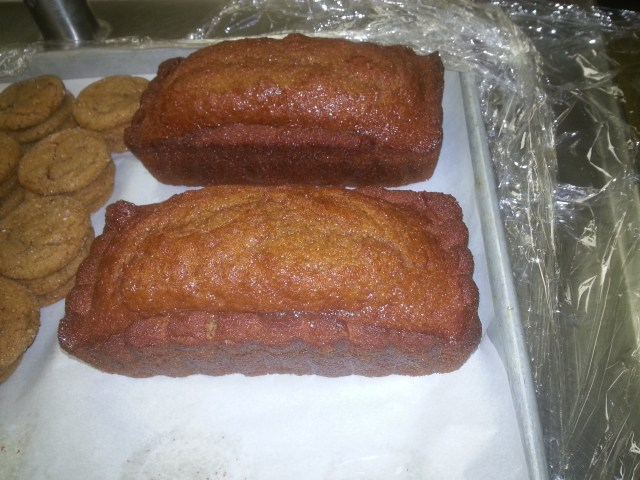 Two medium loaves of honey cake