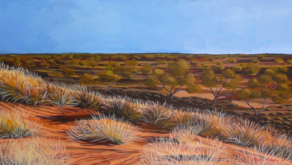 Broken Hill Outback. Acrylic on canvas 80x40x4cms 2009©    SOLD