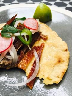 la mélange de tortilla, canard et prickles est magnifique !