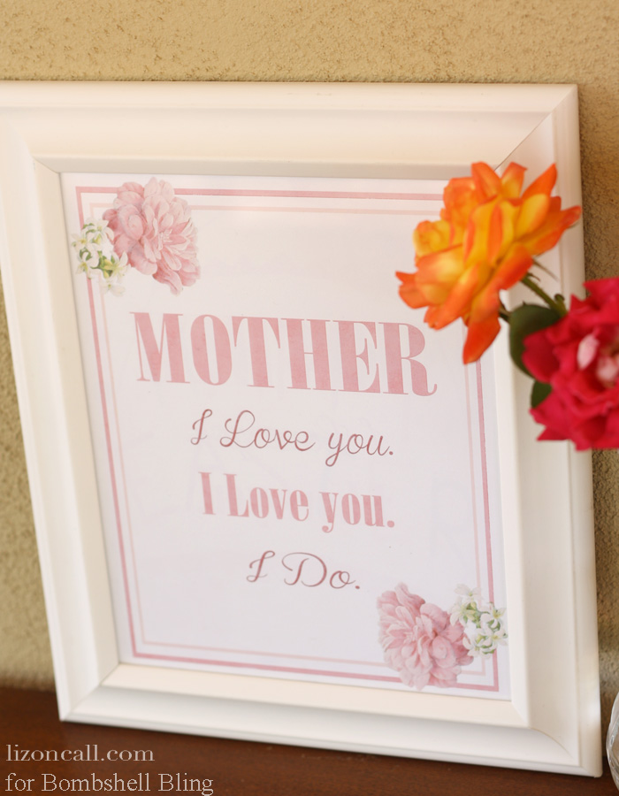 Mother I love you print 2