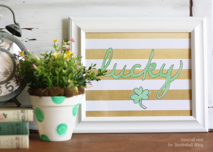 This LUCKY printable is free and available now for St. Patrick's Day themed home and holiday decor. Simply print, frame, and you've got a lovely conversation piece!