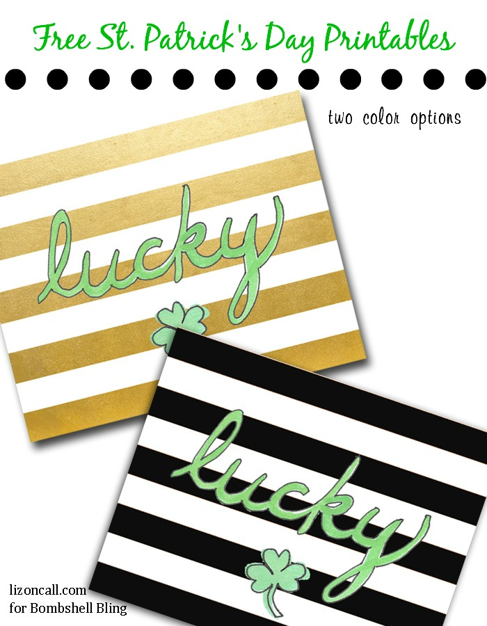 St. Patrick's Day Lucky free printable