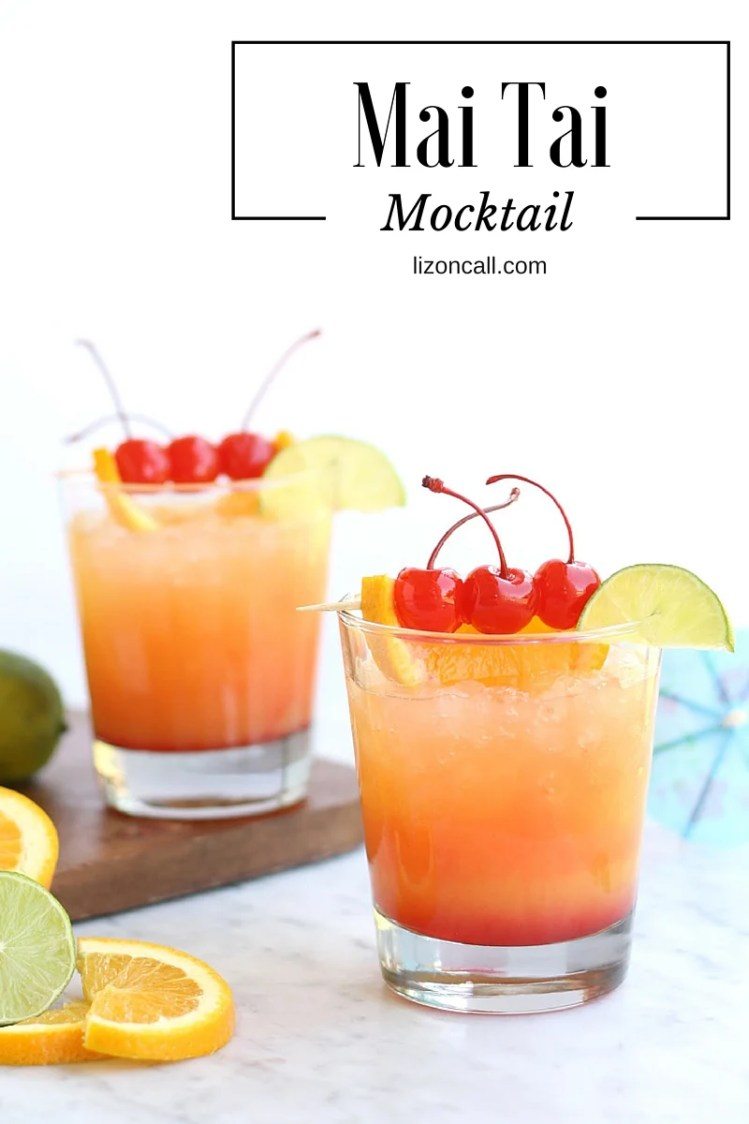 Mai Tai Mocktail Party Punch Easy Mocktail Recipe Liz On Call