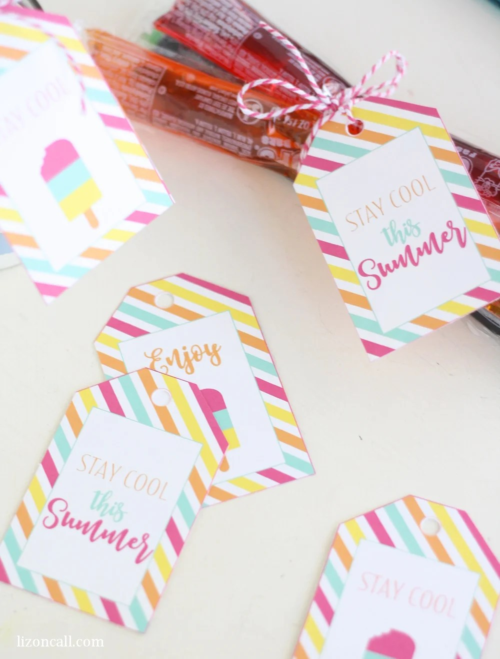 photo about Have a Cool Summer Printable named Totally free Printable Summer time Reward Tags - Printable Crush