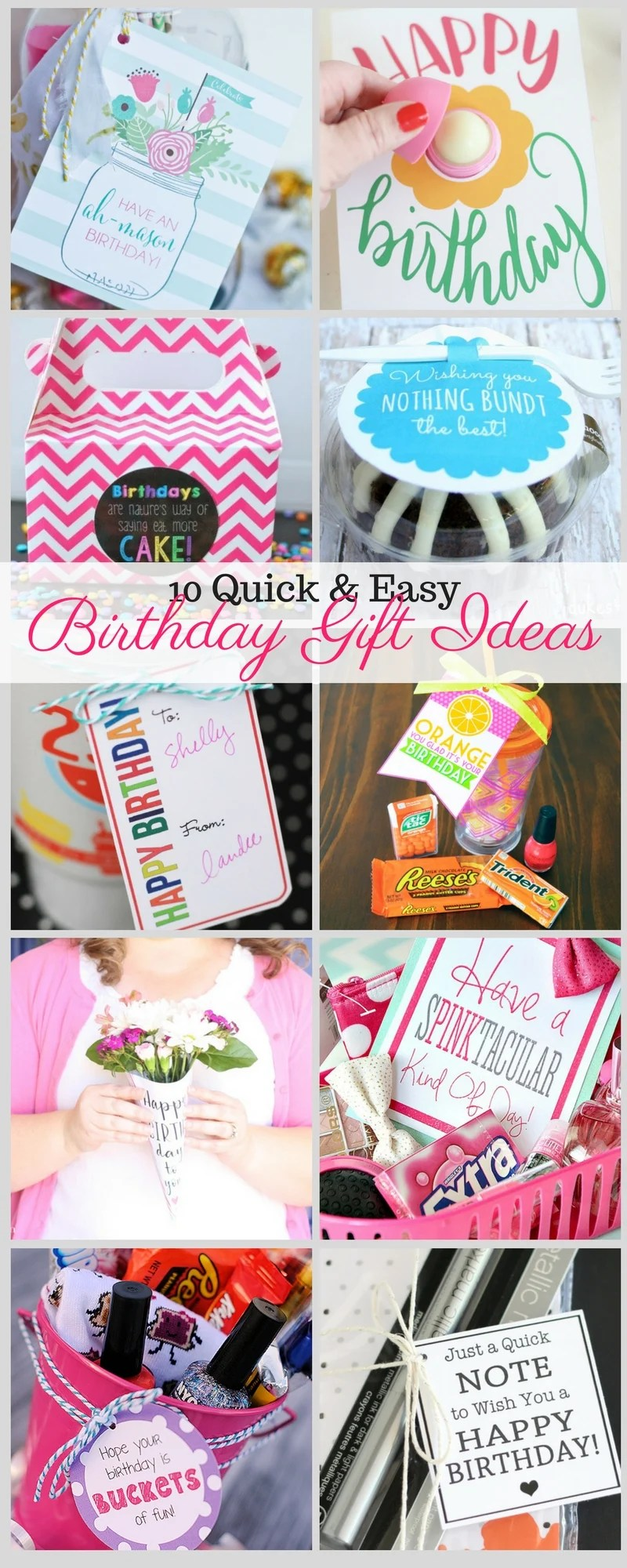 Especially When They Come With Free Printables In Continuing Our Birthday Theme This Week I Have Rounded Up 10 Quick And Easy Gift Ideas