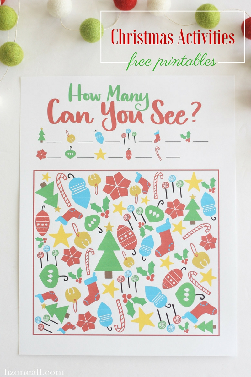 Free Printable Christmas Activities for Kids - Liz on Call