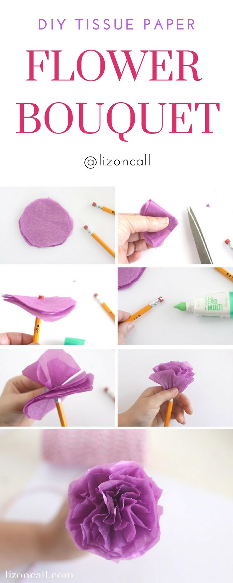 Diy Tissue Paper Flower Tutorial Teacher Appreciation Liz On Call
