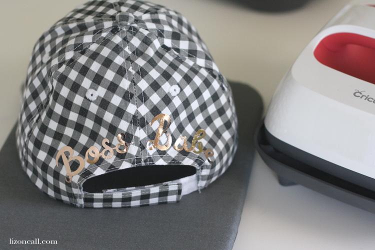45b0d03c0c2c51 DIY Customized Hat with Cricut EasyPress 2 - Liz on Call