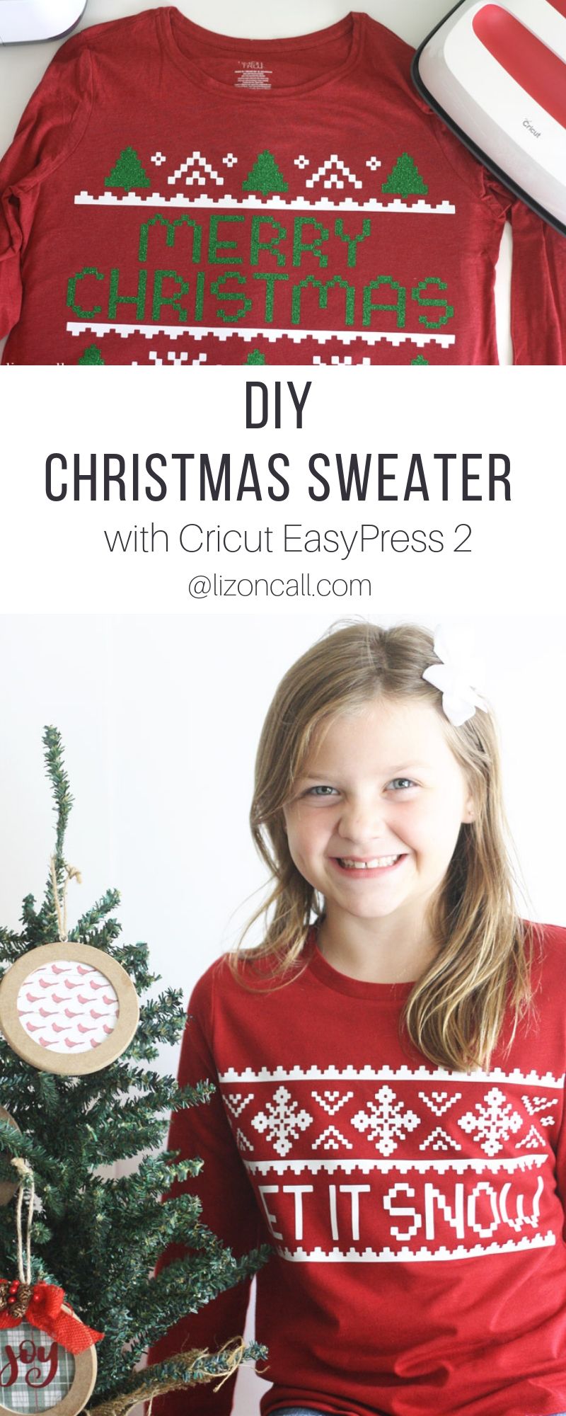 Can't find the perfect Christmas Sweater this holiday season?  You can create a DIY Christmas Sweater using your cutting machine, the Cricut EasyPress 2 and the Cozy Christmas SVG Bundle from Fresh Cuts.
