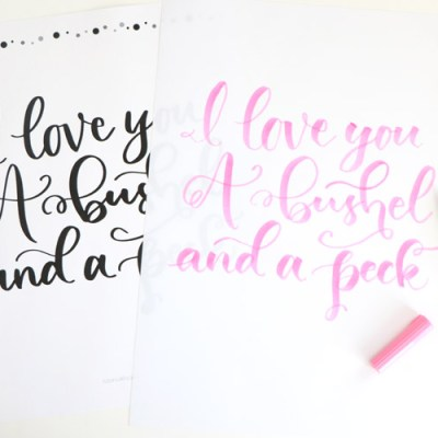 You won't be able to help but sing along as you use these a Bushel and A Peck Hand Lettering Practice Sheets.