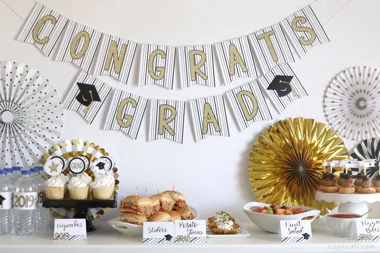 Easy Graduation Party Ideas - Liz on Call