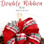 How To Make A Double Ribbon Bow For A Wreath Liz On Call