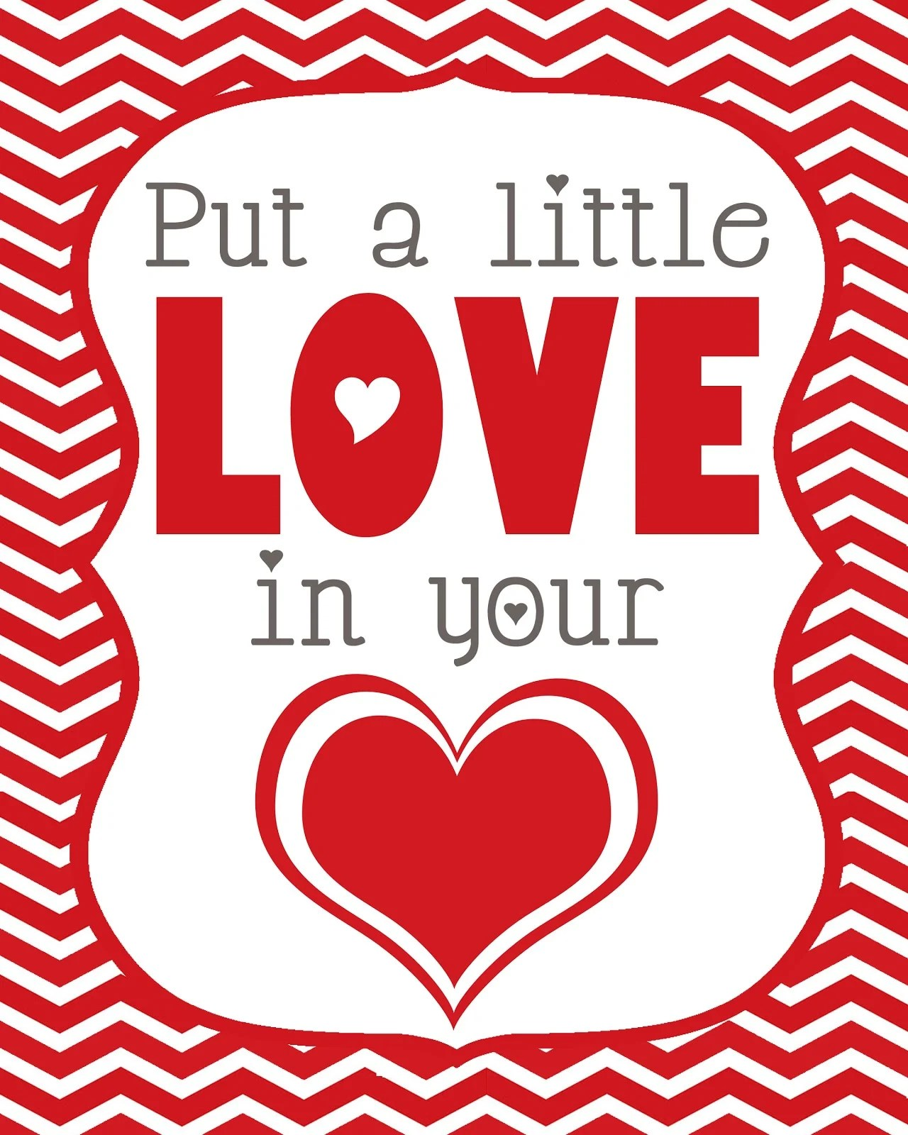 Valentine S Love Printable