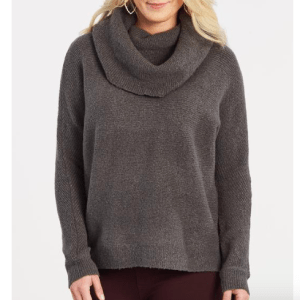Off the shoulder cowl neck seater by romeo and juliet couture