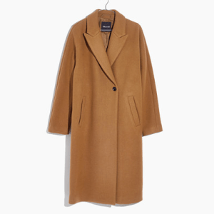 madewell atlas cocoon coat burnished cedar
