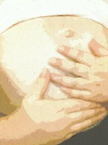 belly hands