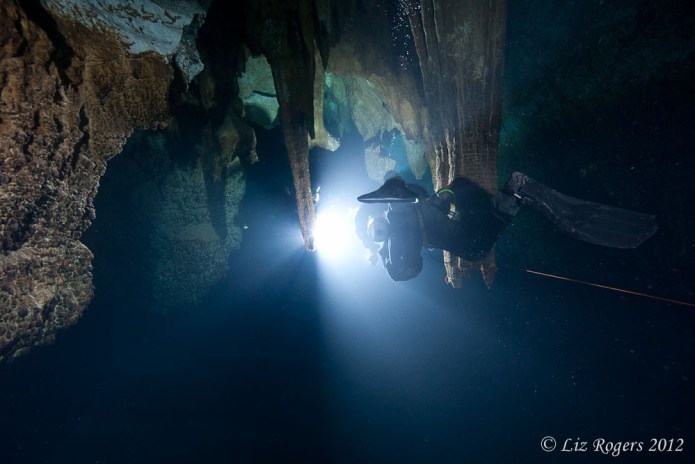 Into the light in McCavity Cave