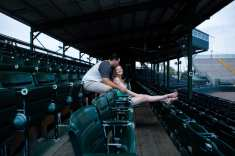Cyndal and Nick Engagement Photography Daytona Beach Jackie Robonson Baseball 1