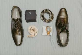 Groom Accessories Shot