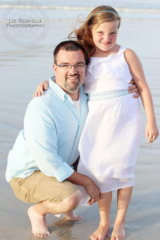 Father & Daughter at the beach