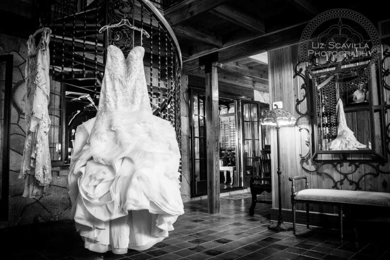 Black & White Wedding Dress Hanging
