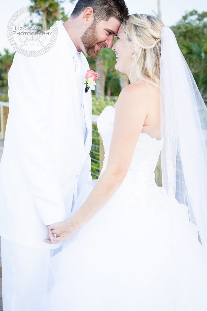 Outside Bride & Groom on Halifax River