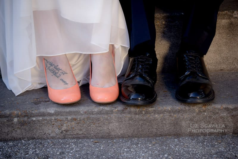 Foot Tattoo Wedding Shoes