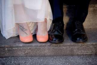 Foot Tattoo Wedding Shoes