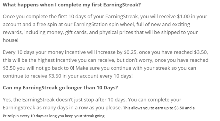 Earning Streak 1