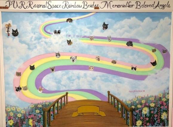 rainbow bridge painting