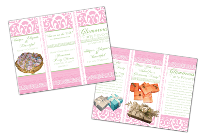 Brochure - Glamorous Party Favors