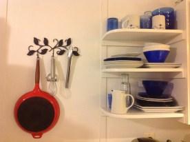 Grandma's Frying Pan and New Kitchen Shelves