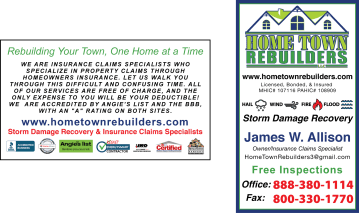 Business Card Design - Home Town Rebuilders - Adobe InDesign