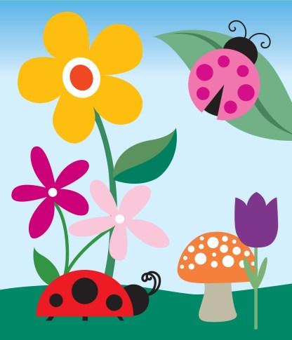 Ladybugs #2 Vector Art