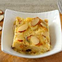 A Lighter Panettone Bread Pudding