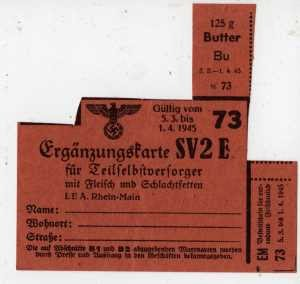 photograph regarding Ration Book Ww2 Printable known as German WWII Rationing