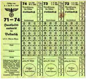 picture relating to Ration Book Ww2 Printable named German WWII Rationing
