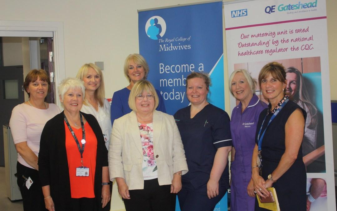 Liz visits Maternity Unit at QE Hospital