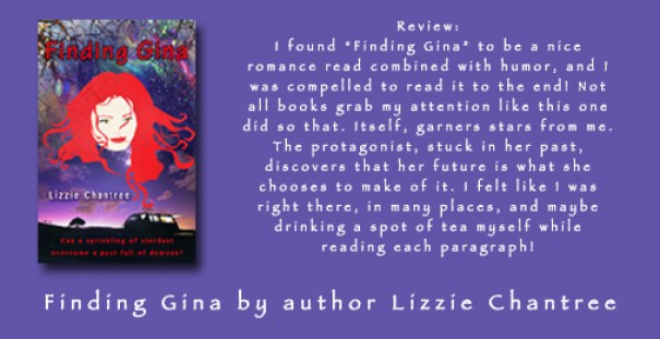 Lizzie Chantree Finding Gina review Twitter Ad