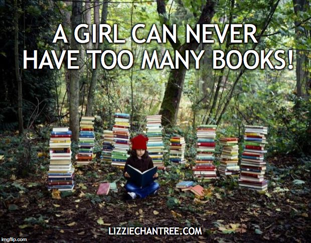 girl with books meme by Lizzie Chantree