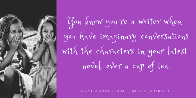 Conversations with characters meme by Lizzie Chantree