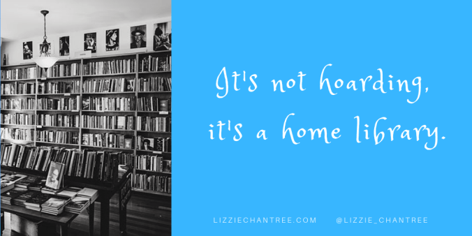 Home library meme by Lizzie Chantree