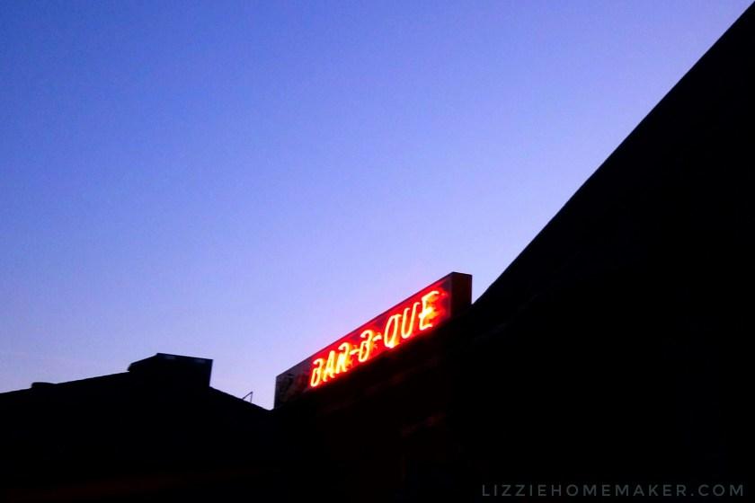 Dinosaur BBQ barbecue Bar-B-Que sign