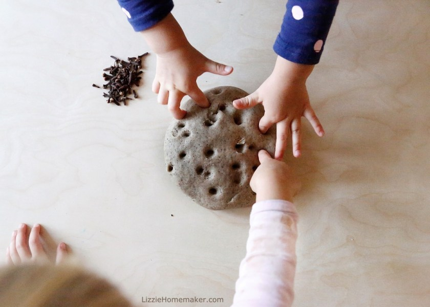 Lizzie Homemaker's all natural cozy clove playdough