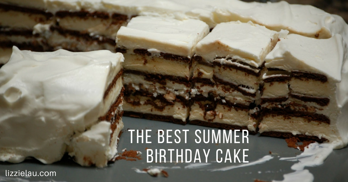 The Best Summer Birthday Cake – Ice Cream Sandwich Cake