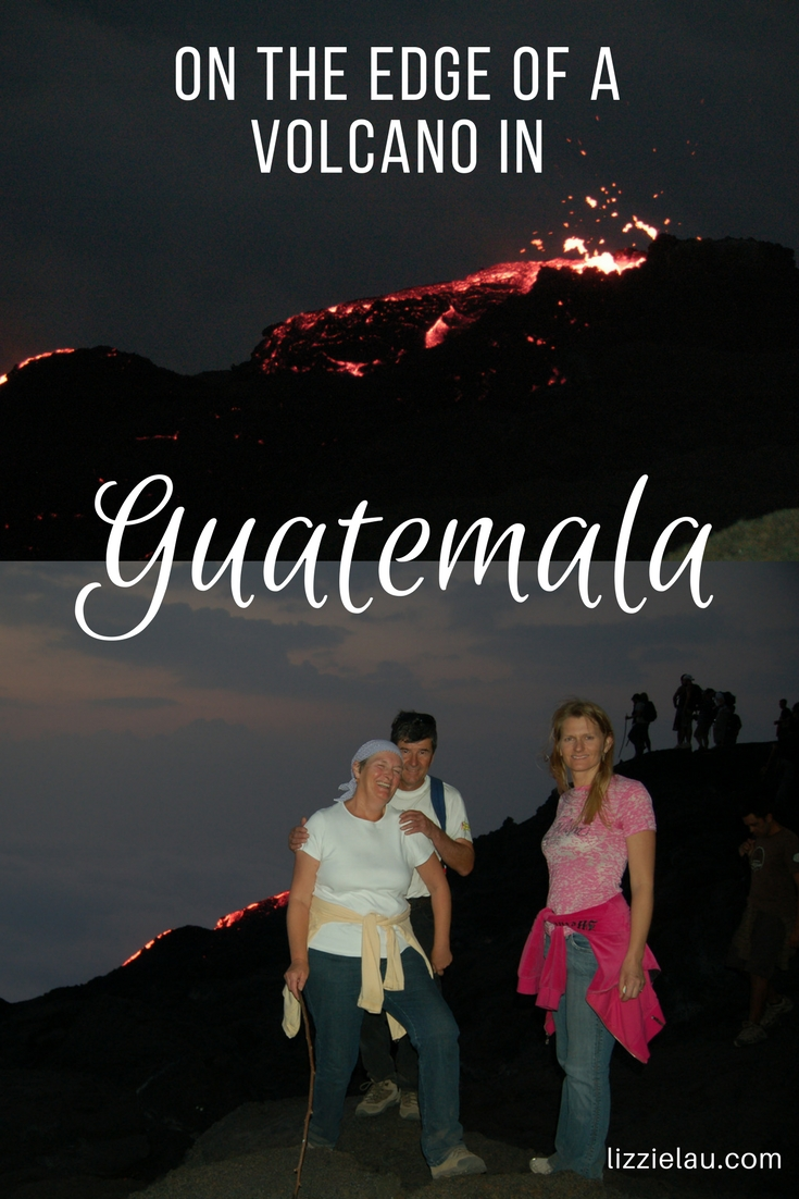 On the edge of a volcano in Guatemala #Pacaya #Guatemala #volcano