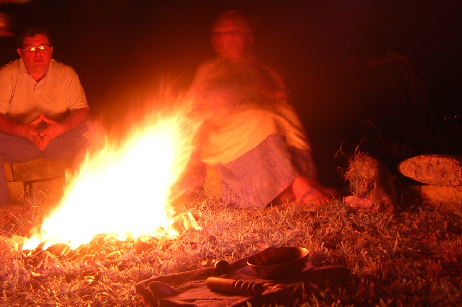 AumRak at the fire ceremony