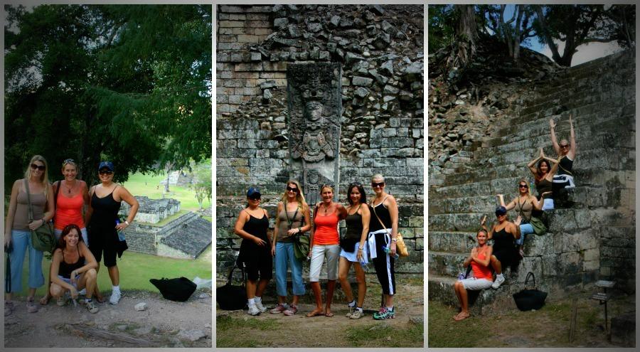 Visiting the ruinas at Copán.