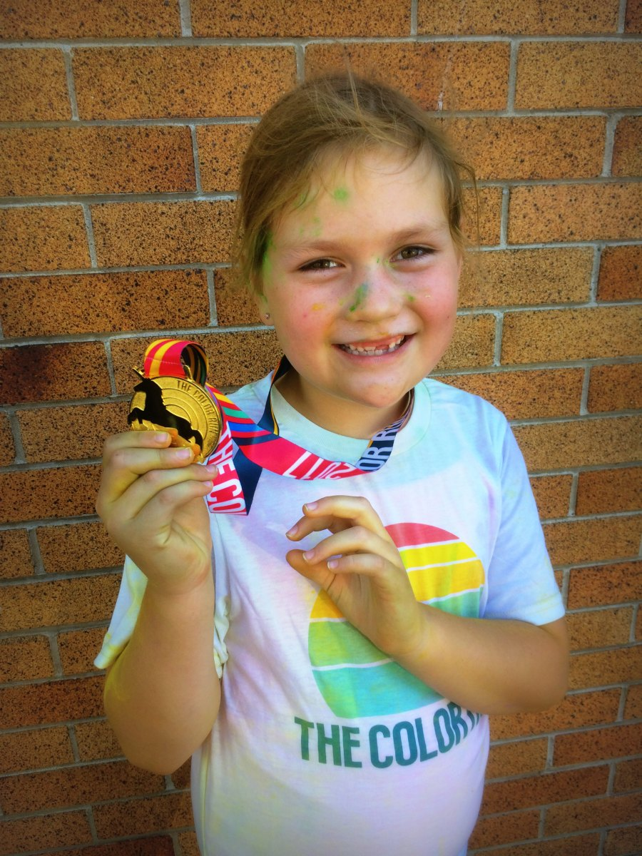 The Color Run unicorn medal