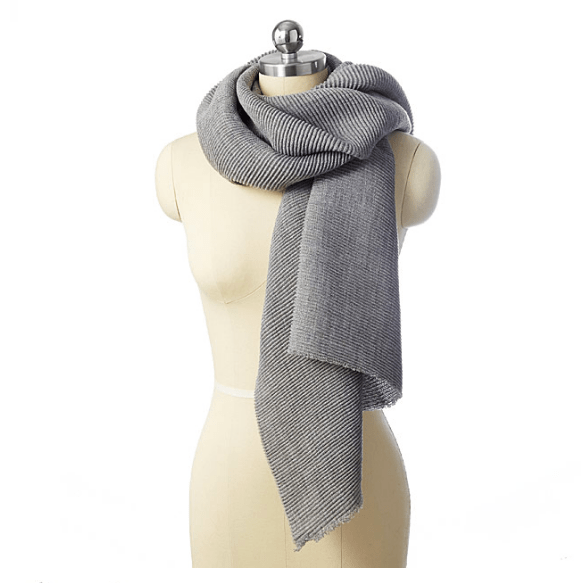 uncommon goods micropleated scarf